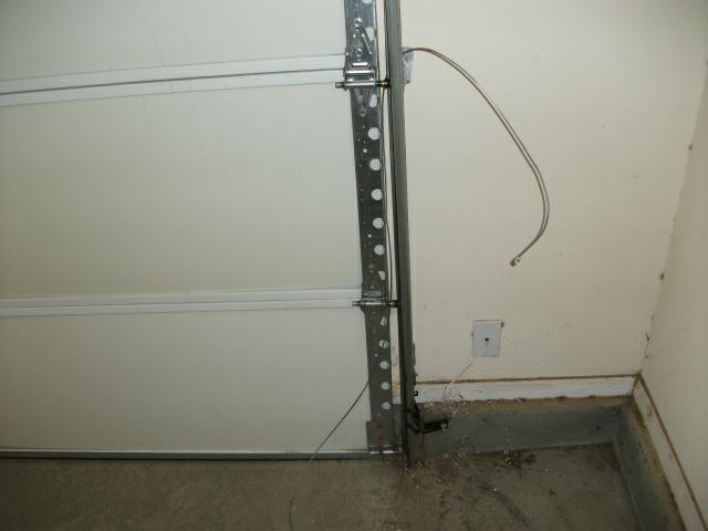 broken garage door cable repair anco overhead door