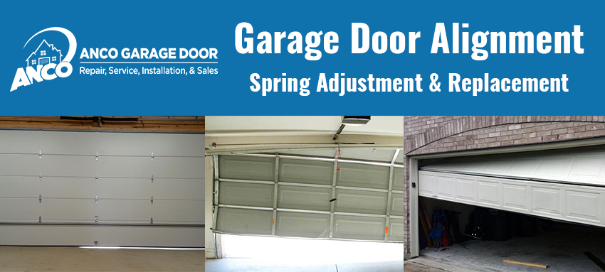 Garage door alignment track repair anco overhead door for Garage door alignment