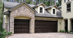 photo of new garage door installed