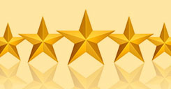5 star ratings banner for anco overhead door