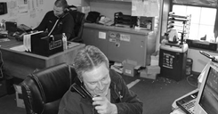 photo of anco overhead door team answering customer calls